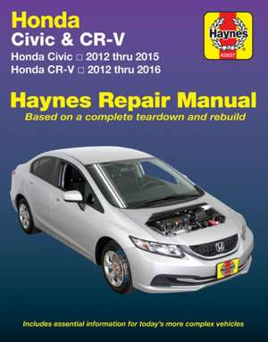 Honda Civic (12-15) & Cr-V (12-16): Does Not Include Information Specific to Cng or Hybrid Models de  Haynes Publishing