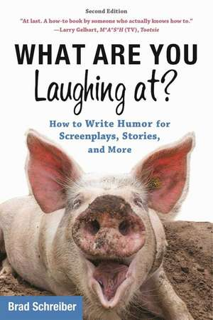 What Are You Laughing At?: How to Write Humor for Screenplays, Stories, and More de Brad Schreiber