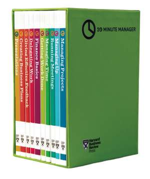 "HBR 20-Minute Manager Boxed Set (10 Books) (HBR 20-Minute Manager Series):  The Definitive Management Ideas of the Year from Harvard Business Review (with Bonus McKinsey Award-Winning Article ""P de Harvard Business Review"