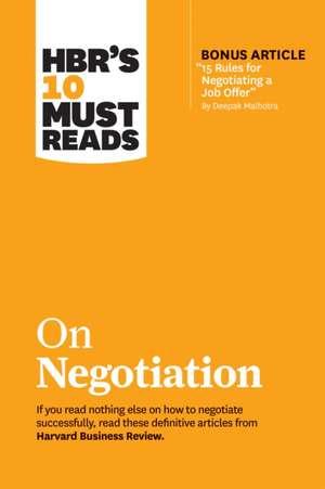 HBR Must Read on Negotiation de Harvard Business Review