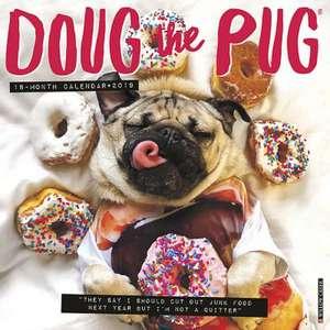2019 Doug the Pug Wall Calendar (Dog Breed Calendar)