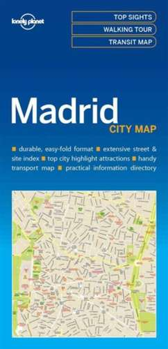 Lonely Planet Madridcity Map de Lonely Planet