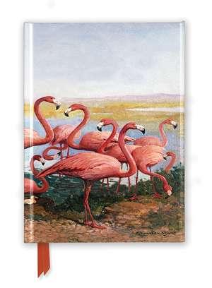 Gerritt Vandersyde: Flamingoes (Foiled Journal) de Flame Tree Studio