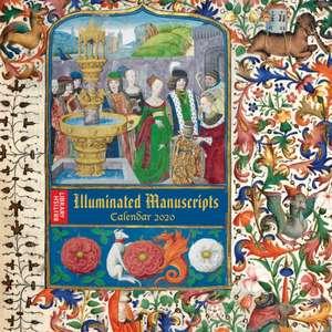 British Library – Illuminated Manuscripts Wall Calendar 2020 (Art Calendar) de Flame Tree Studio