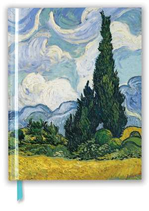 Vincent van Gogh: Wheat Field with Cypresses (Blank Sketch Book) de Flame Tree Studio