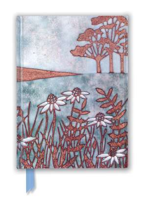 Janine Partington: Copper Foil Meadow Scene (Foiled Journal) de Flame Tree Studio
