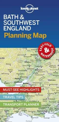 Lonely Planet Bath & Southwest England Planning Map imagine