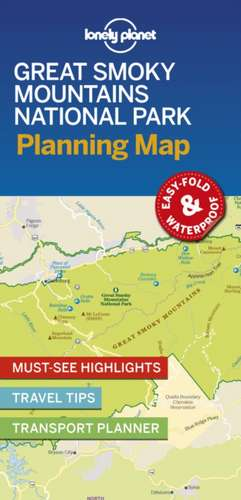 Lonely Planet Great Smoky Mountains National Park Planning Map imagine