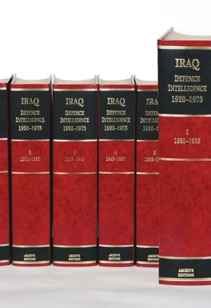 Iraq Defence Intelligence 1920 1973 6 Volume Hardback Set Including Boxed Maps de A. Burdett