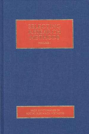 Selecting Research Methods de W. (William) Paul Vogt