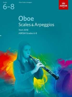 Oboe Scales & Arpeggios, ABRSM Grades 6-8 imagine