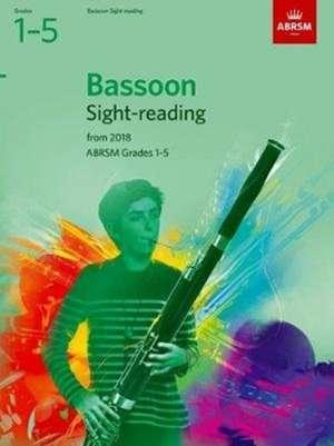 Bassoon Sight-Reading Tests, ABRSM Grades 1-5 imagine