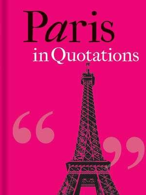 Paris in Quotations de Jaqueline Mitchell