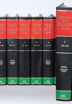 Records of the Emirates 1820–1960 12 Volume Hardback Set Including Boxed Genealogical Table and Maps de P. Tuson