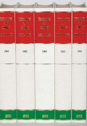 Records of Oman 1961–1965 5 Volume Hardback Set de A. Burdett
