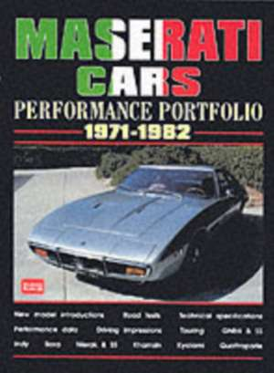 Maserati Cars Performance Portfolio 1971-1982 imagine