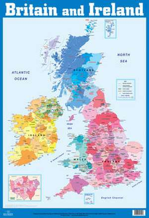 British Isles and Ireland Wall Chart