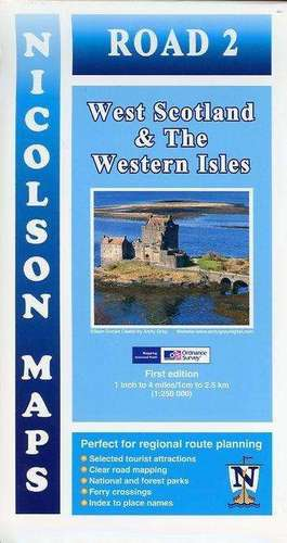 Nicolson Map 02. West Scotland & the Western Isles 1 : 250 000