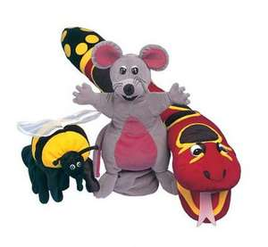 Jolly Phonics Puppets, Set of All 3