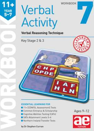 11+ Verbal Activity Year 5-7 Workbook 7
