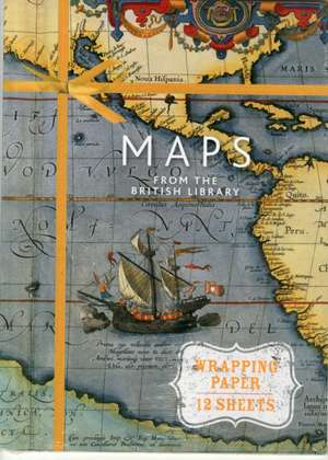 Maps from the British Library:  Wrapping Paper Book de British Library