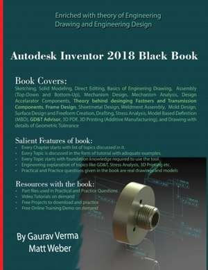 Autodesk Inventor 2018 Black Book imagine