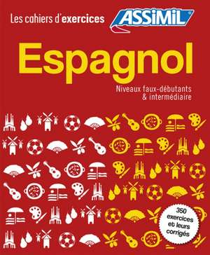 Coffret Cahiers d'exercices Espagnol Faux-debutants + Intermediaire imagine