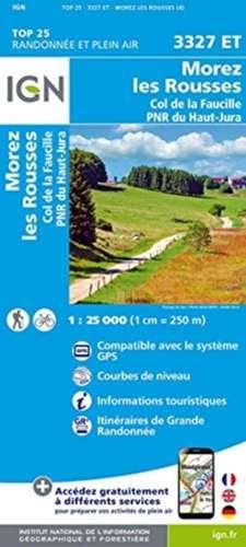 Morez.les Rousses.Col de la Faucille.PNR du Haut Jura 1:25 000