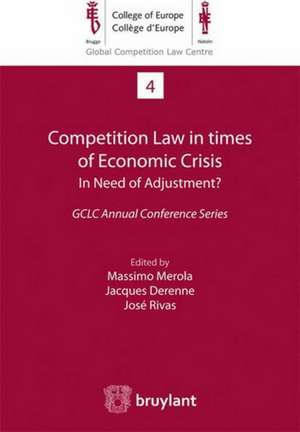 Competition Law in times of Economic Crisis: in Need of Adjustment ? imagine