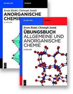 Kombi Anorganische Chemie, 8.A. und Übungsbuch Allgemeine und Anorganische Chemie 2.A. de Erwin Riedel