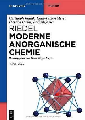 Riedel Moderne Anorganische Chemie de Christoph Janiak