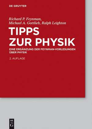 Tipps zur Physik: Eine Ergänzung de Richard P. Feynman