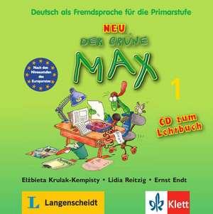 Der grüne Max 1 Neu - Audio-CD zum Lehrbuch 1: Copii 8-10 ani de Elzbieta Krulak-Kempisty