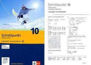 Schnittpunkt - Ausgabe fuer Nordrhein-Westfalen - Neubearbeitung. Mathematik fuer Realschulen. Arbeitsheft plus Loesungsheft mit Lernsoftware 10. Schuljahr