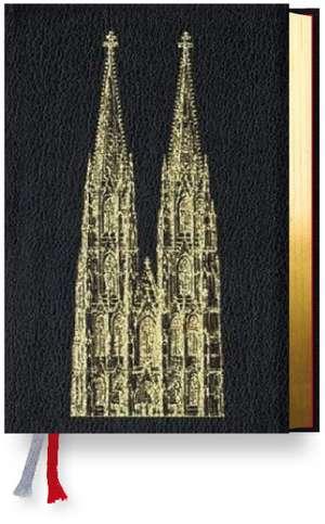 Gotteslob Erzbistum Koeln. Rindleder schwarz, Goldschnitt, Dompraegung
