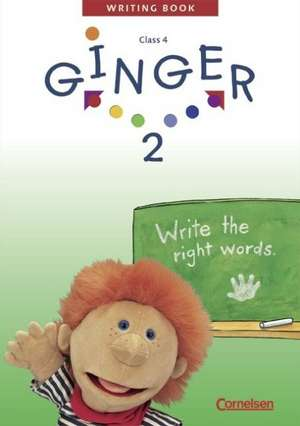 Ginger 2. My Second Writing Book. Schreibheft. Mit Loesungsheft