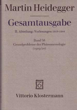 Martin Heidegger, Grundprobleme Der Phanomenologie (Wintersemester 1919/20)