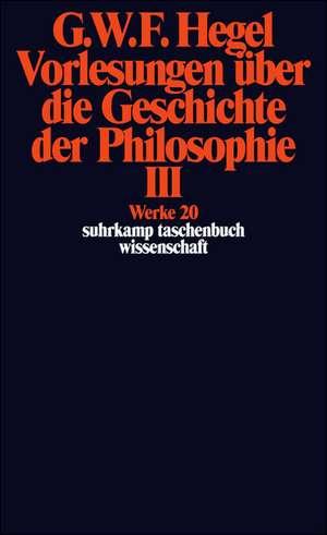 Vorlesungen ueber die Geschichte der Philosophie 3