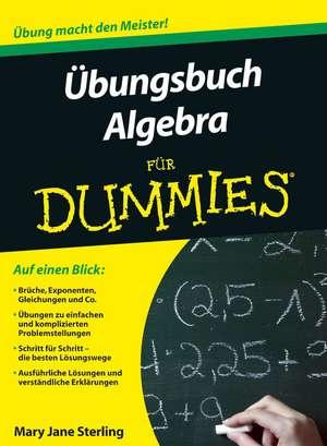 Ubungsbuch Algebra fur Dummies de Mary Jane Sterling