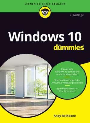 Windows 10 für Dummies de Andy Rathbone