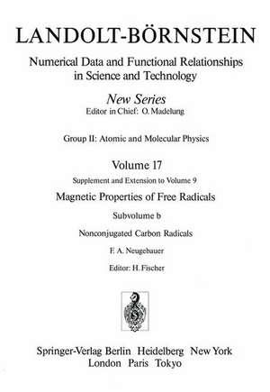 Nonconjugated Carbon Radicals / Nicht-konjugierte Kohlenstoff-Radikale de F.A. Neugebauer