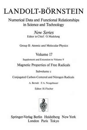 Conjugated Carbon-Centered and Nitrogen Radicals / Konjugierte Kohlenstoff- und Stickstoff-Radikale de A. Berndt