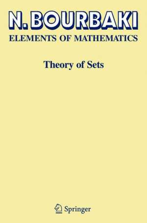 Elements Of Mathematics. Theory Of Sets