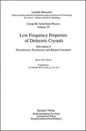 Piezoelectronic, Pyroelectric and Related Constants de A. S. Bhalla