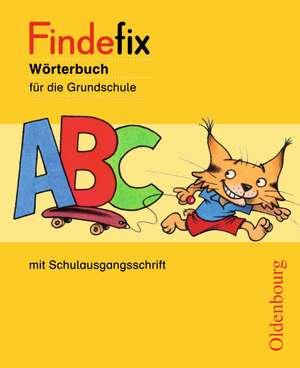 Findefix Woerterbuch in Schulausgangsschrift