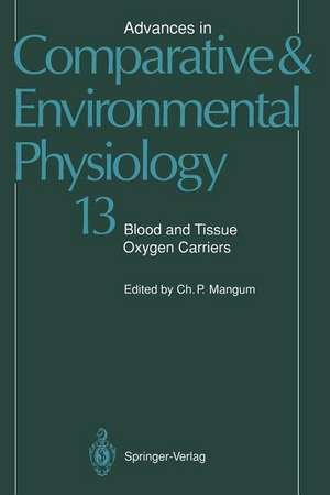 Blood and Tissue Oxygen Carriers de M. Brouwer