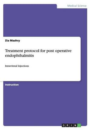 Treatment Protocol for Post Operative Endophthalmitis