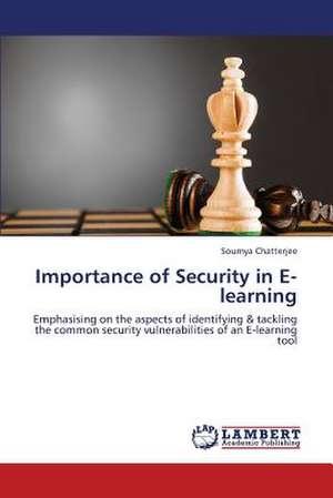 Importance of Security in E-learning de Chatterjee Soumya