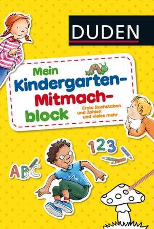 Duden: Mein Kindergarten-Mitmachblock de Christina Braun