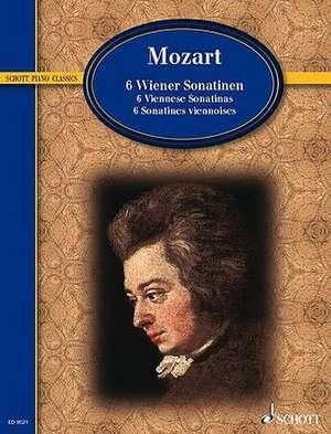 6 Viennese Sonatinas:  Piano Solo de Wolfgang Amadeus Mozart